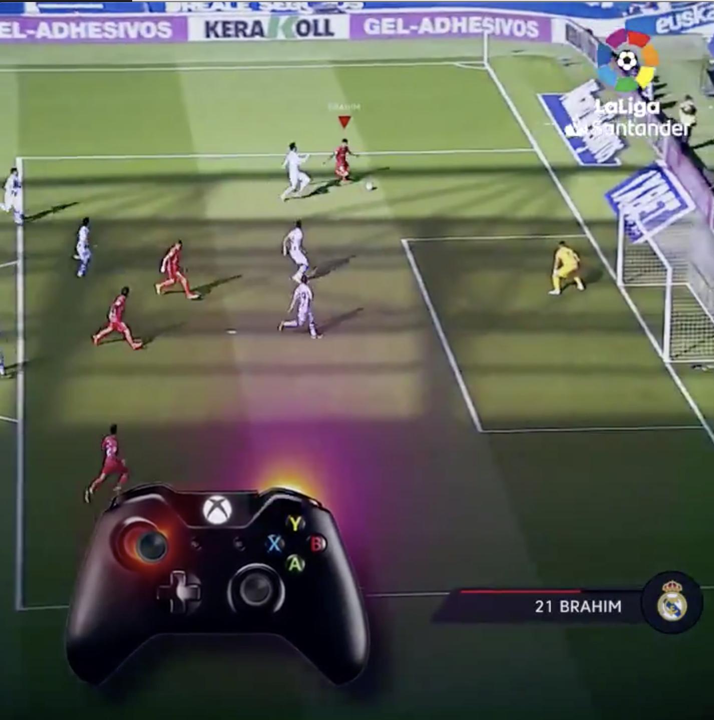 LaLiga action on Xbox controller